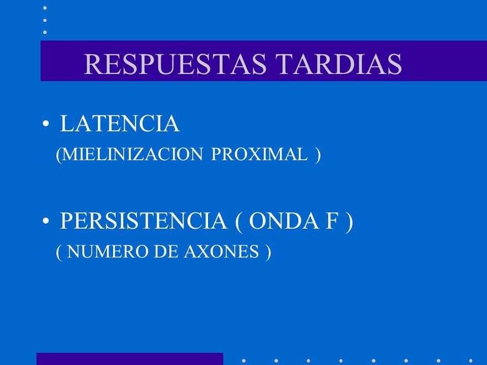 RESPUESTAS TARDIAS LATENCIA PERSISTENCIA ( ONDA F )