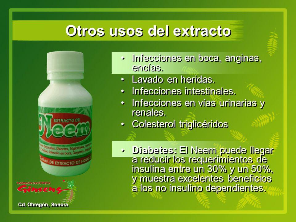 Otros usos del extracto