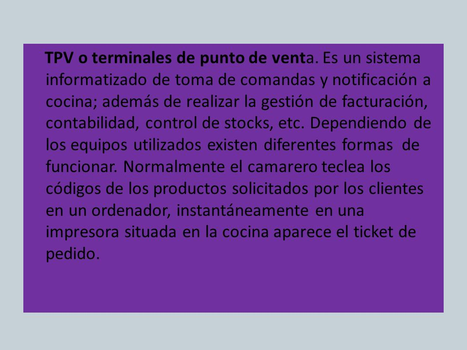 TPV o terminales de punto de venta