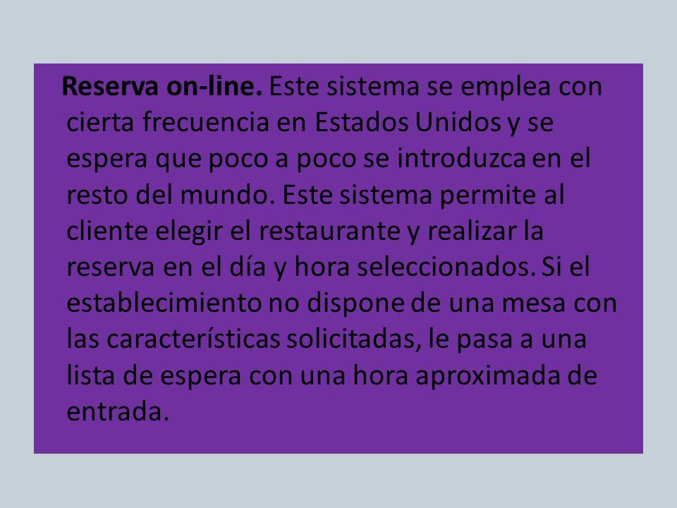 Reserva on-line.