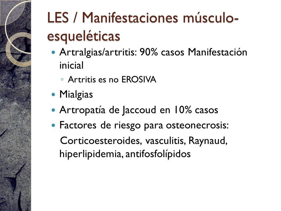 LES / Manifestaciones músculo-esqueléticas