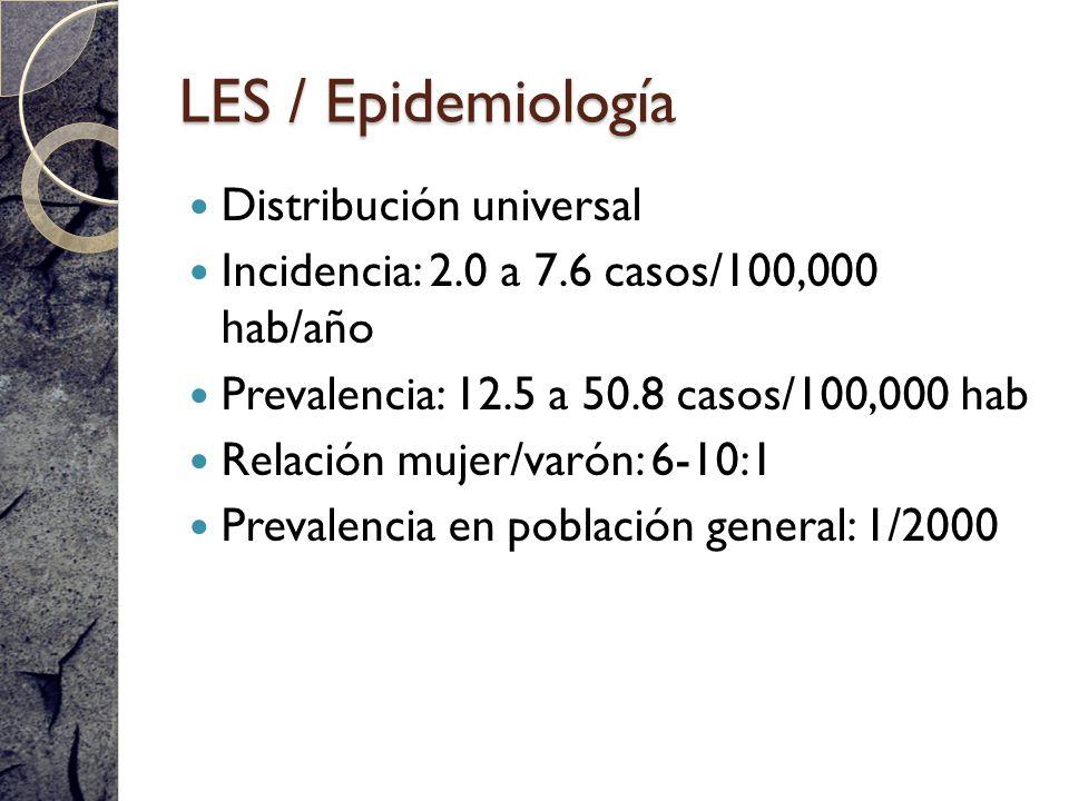 LES / Epidemiología Distribución universal