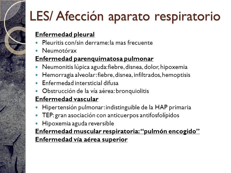 LES/ Afección aparato respiratorio