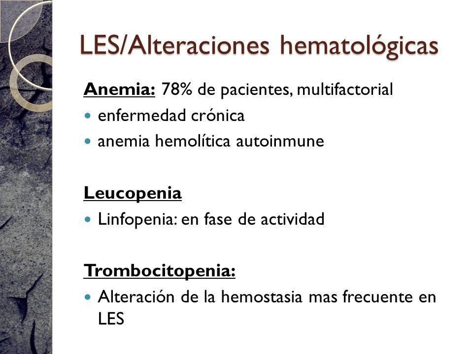 LES/Alteraciones hematológicas