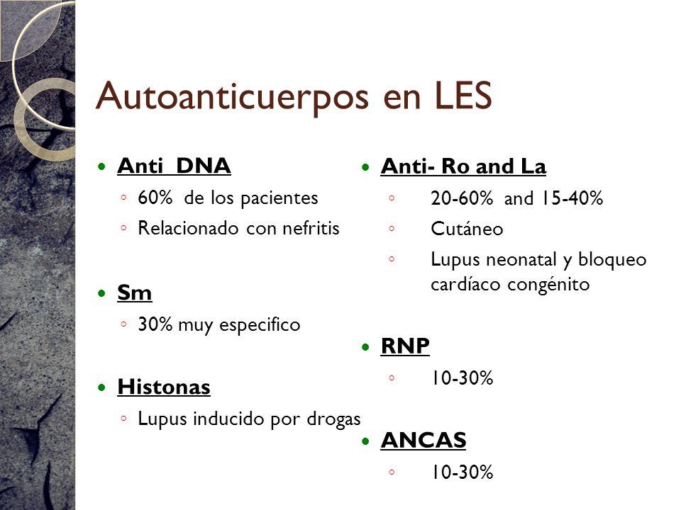 Autoanticuerpos en LES