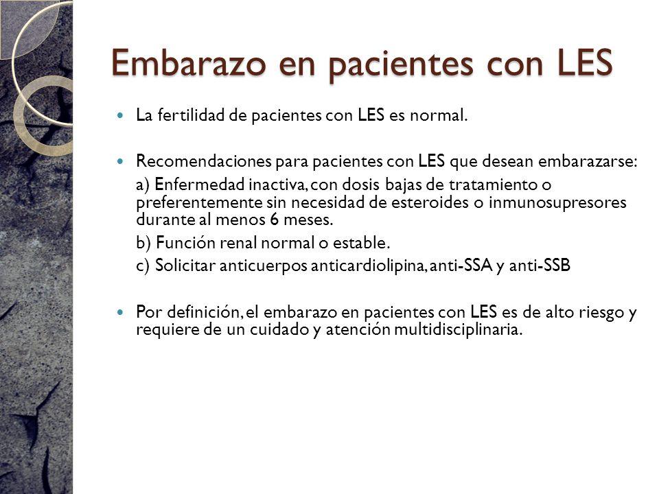 Embarazo en pacientes con LES