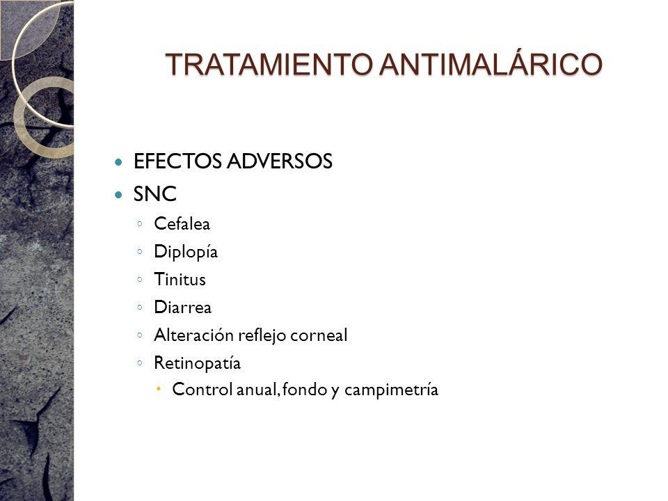 TRATAMIENTO ANTIMALÁRICO