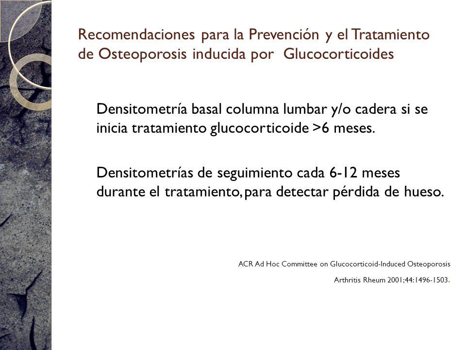 Recomendaciones para la Prevención y el Tratamiento de Osteoporosis inducida por Glucocorticoides