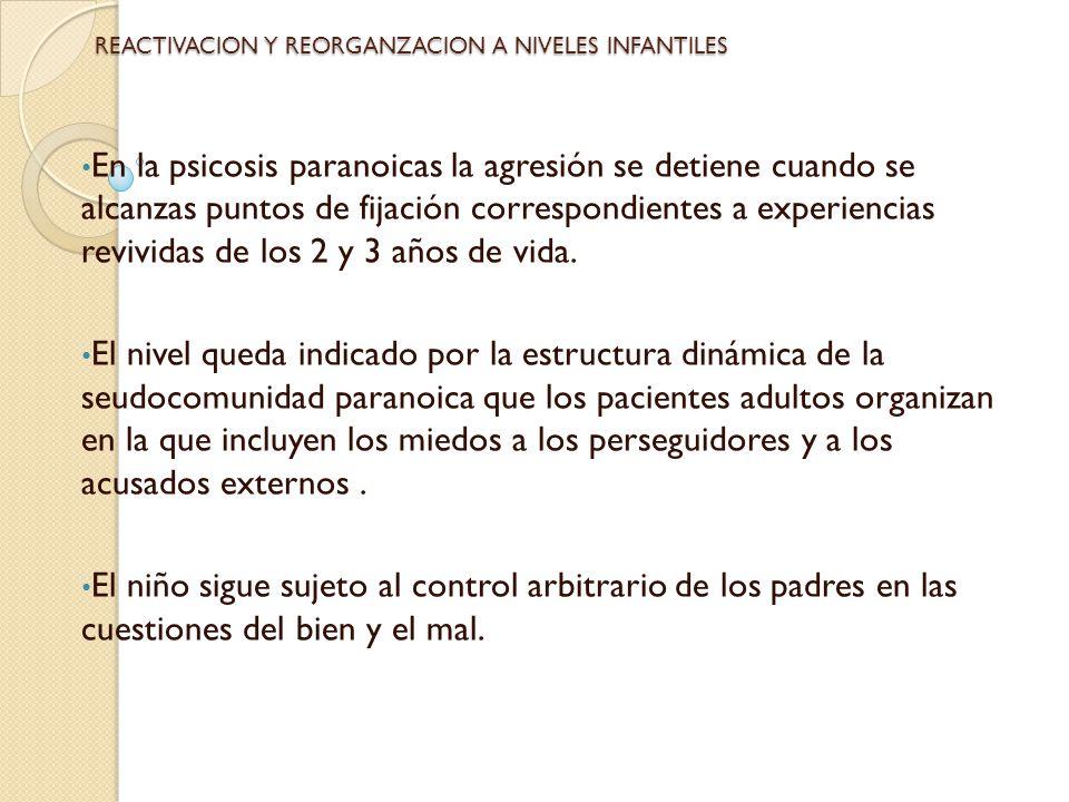 REACTIVACION Y REORGANZACION A NIVELES INFANTILES