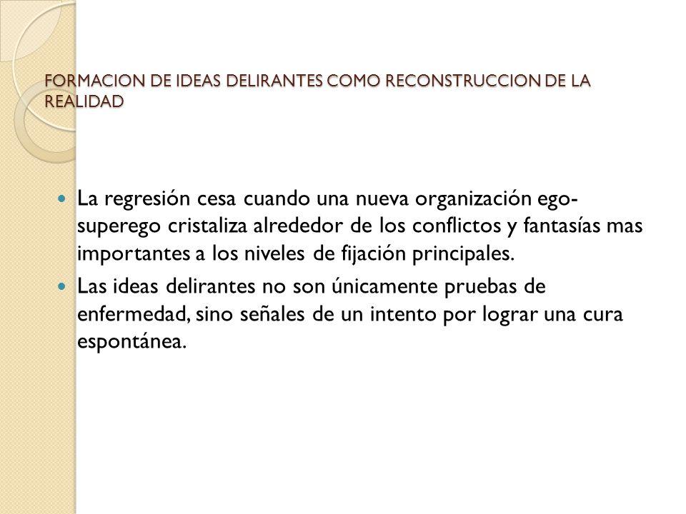 FORMACION DE IDEAS DELIRANTES COMO RECONSTRUCCION DE LA REALIDAD