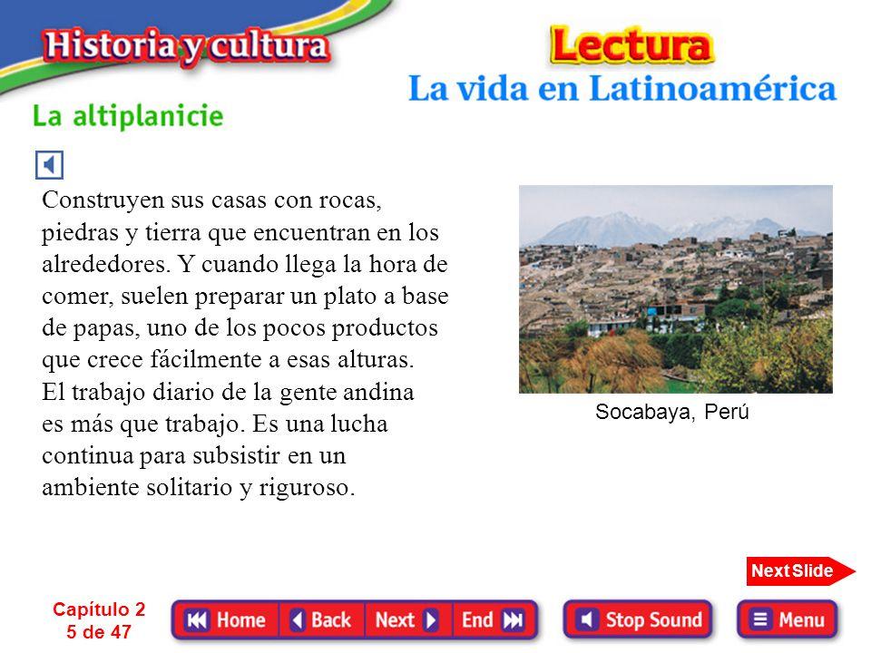 El trabajo diario de la gente andina