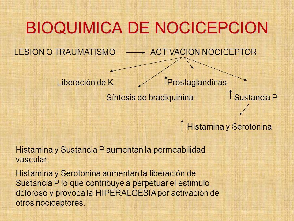 BIOQUIMICA DE NOCICEPCION