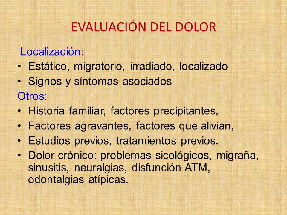 EVALUACIÓN DEL DOLOR Localización:
