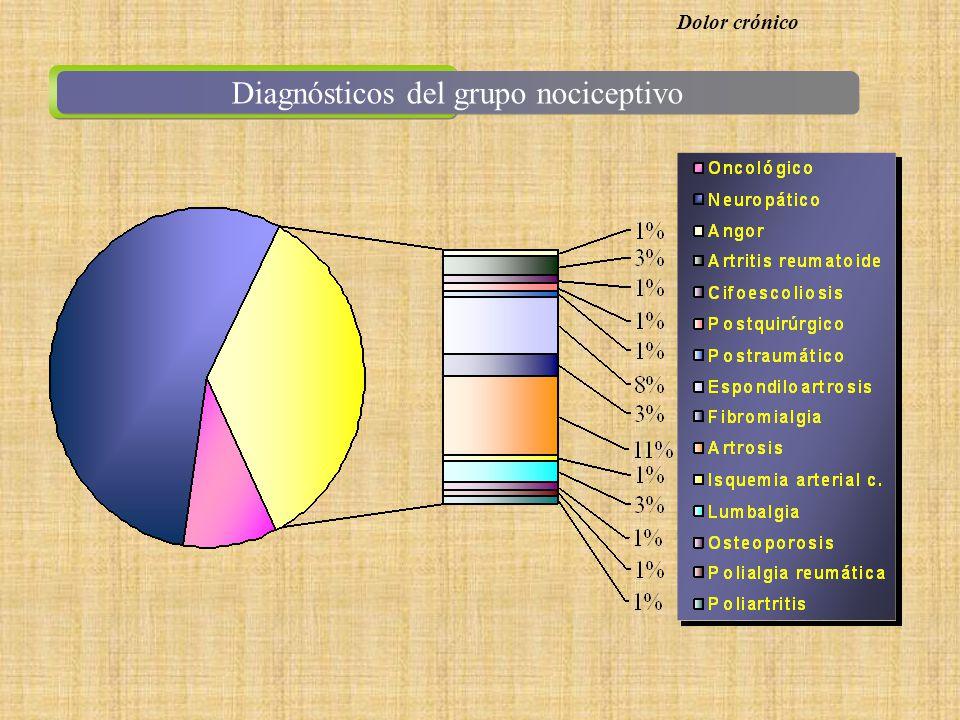 Diagnósticos del grupo nociceptivo