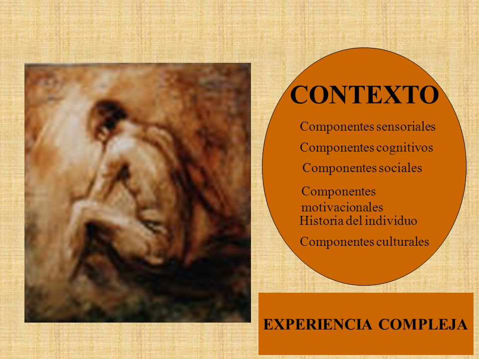 CONTEXTO EXPERIENCIA COMPLEJA Componentes sensoriales