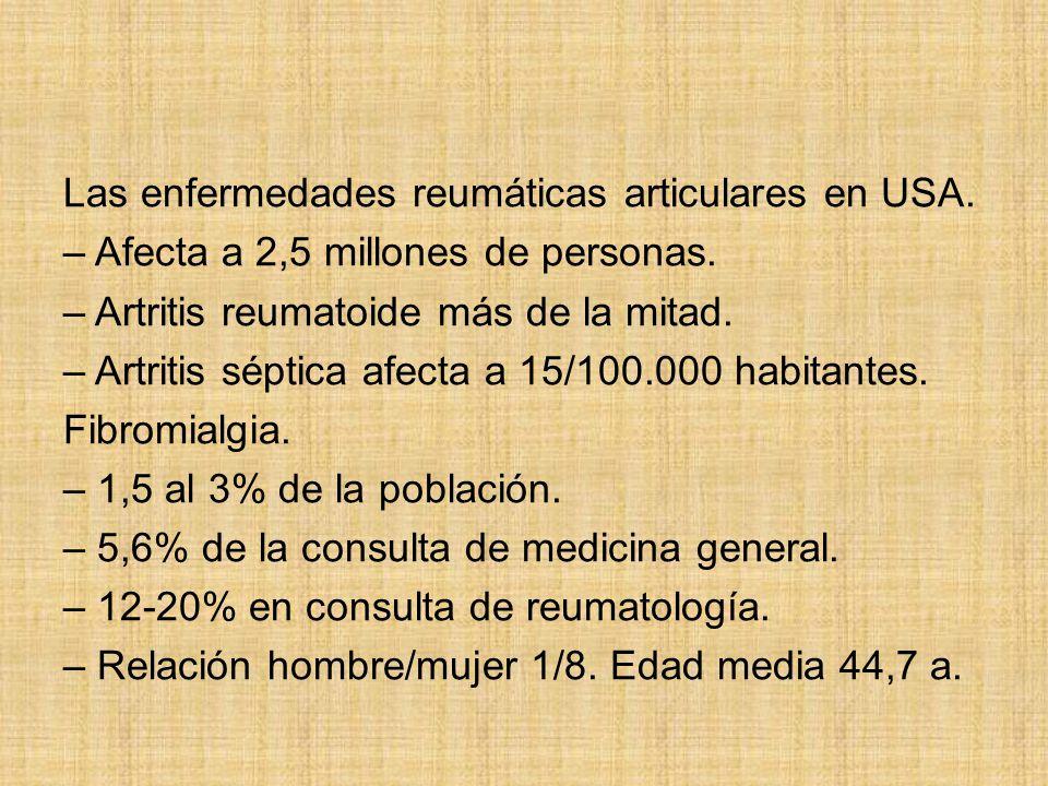 Las enfermedades reumáticas articulares en USA.