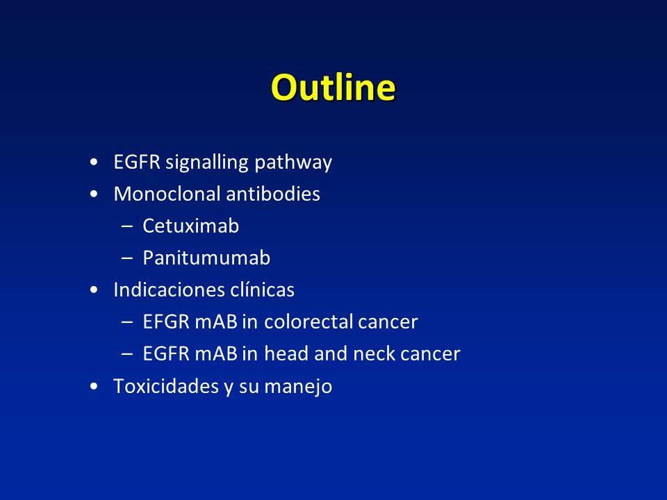 Outline EGFR signalling pathway Monoclonal antibodies Cetuximab