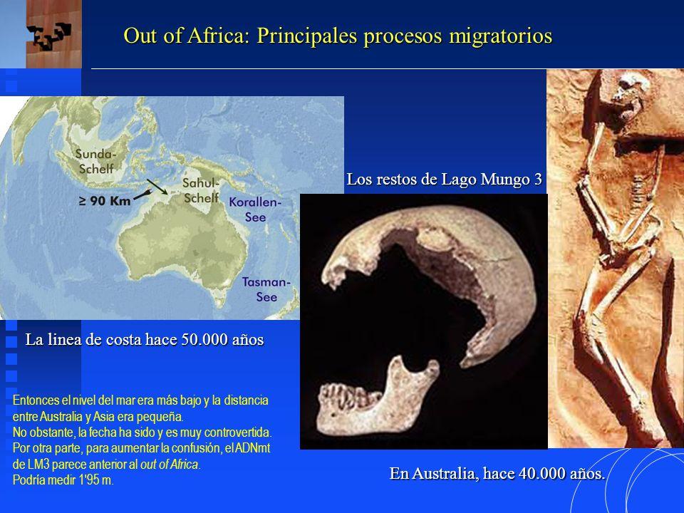 La linea de costa hace 50.000 años