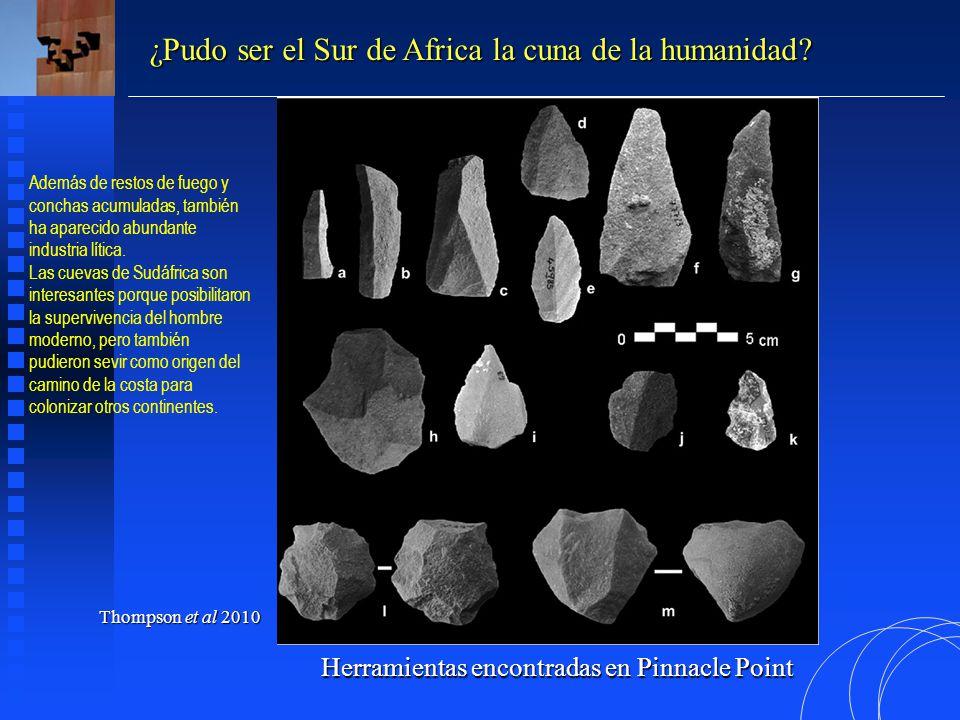 Herramientas encontradas en Pinnacle Point