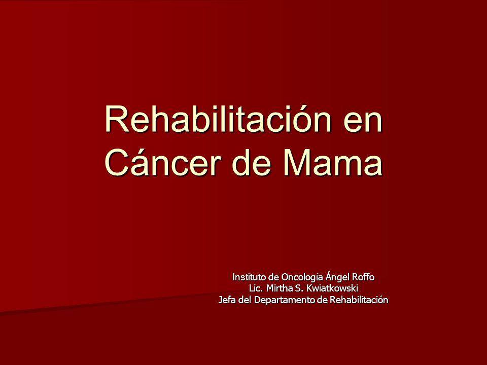 Rehabilitación en Cáncer de Mama