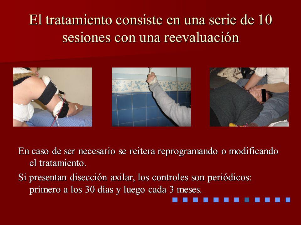El tratamiento consiste en una serie de 10 sesiones con una reevaluación