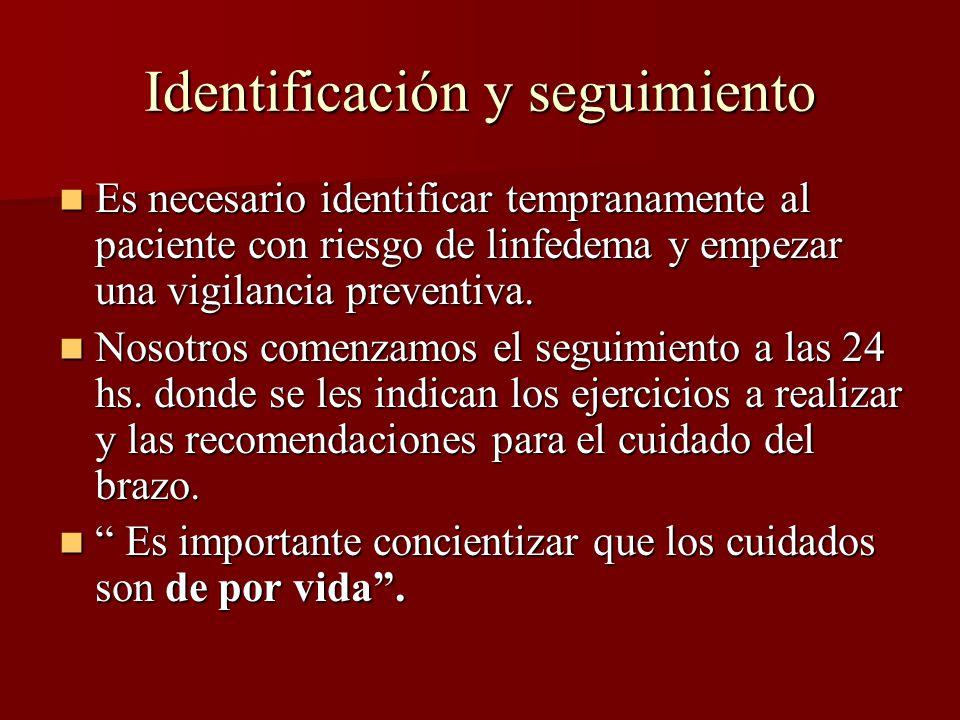 Identificación y seguimiento