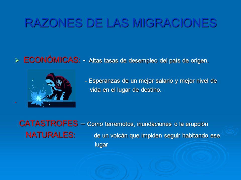 RAZONES DE LAS MIGRACIONES