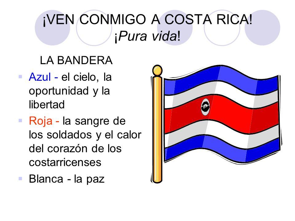 ¡VEN CONMIGO A COSTA RICA! ¡Pura vida!
