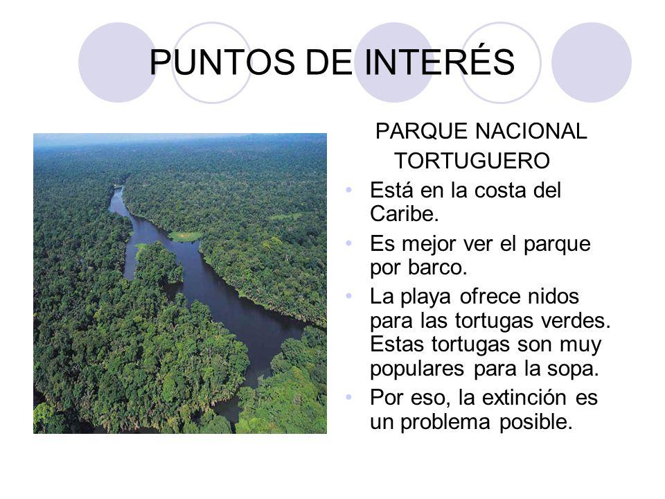 PUNTOS DE INTERÉS PARQUE NACIONAL TORTUGUERO