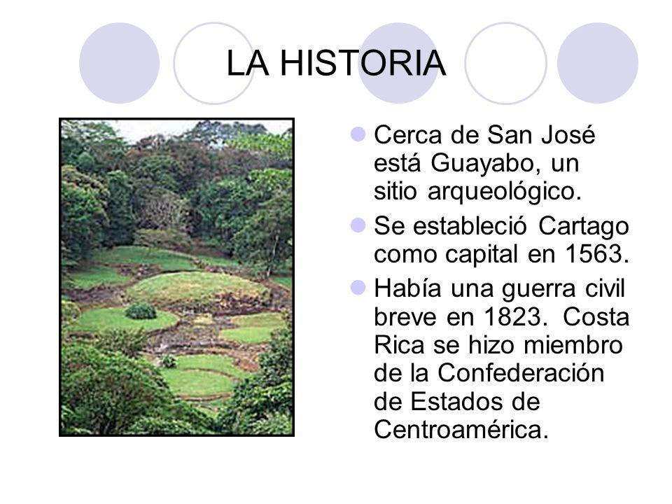 LA HISTORIA Cerca de San José está Guayabo, un sitio arqueológico.