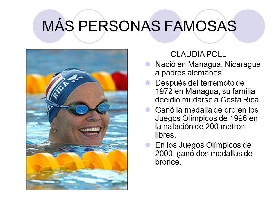 MÁS PERSONAS FAMOSAS CLAUDIA POLL