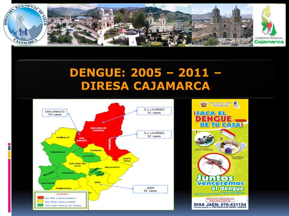 DENGUE: 2005 – 2011 – DIRESA CAJAMARCA
