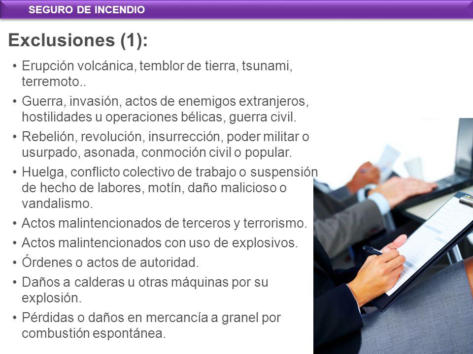 Exclusiones Exclusiones (1): Absolutas