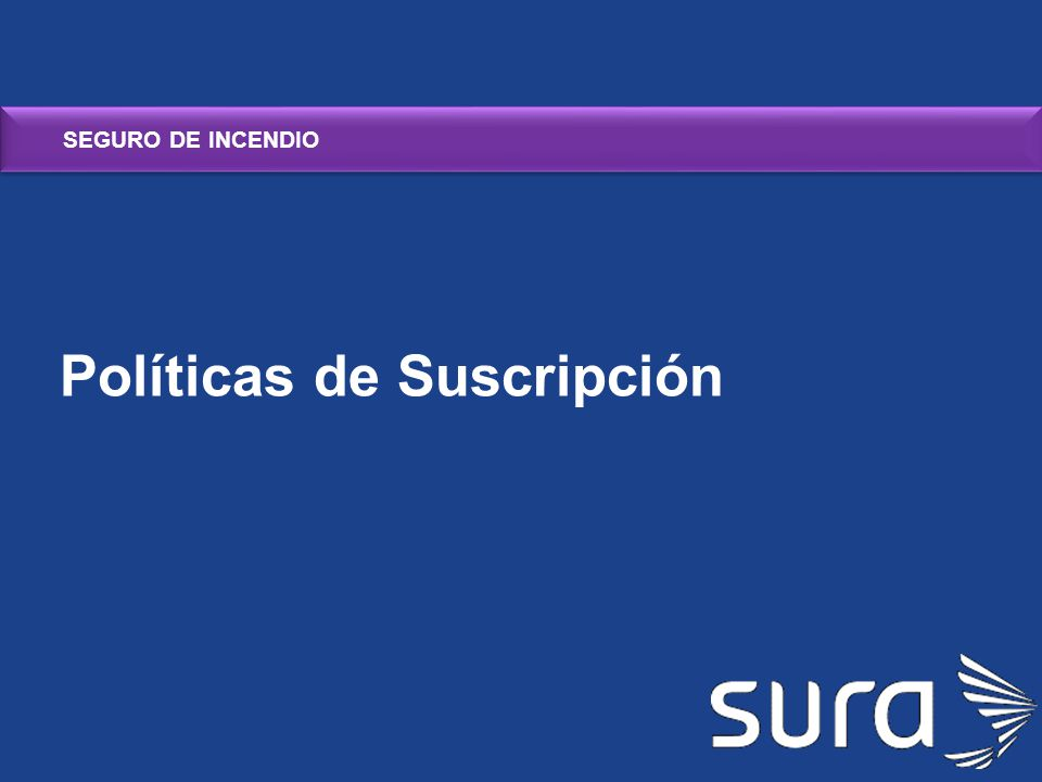 Políticas de Suscripción