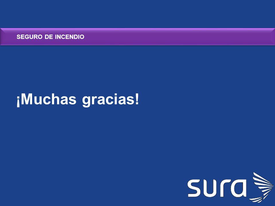 SEGURO DE INCENDIO ¡Muchas gracias!