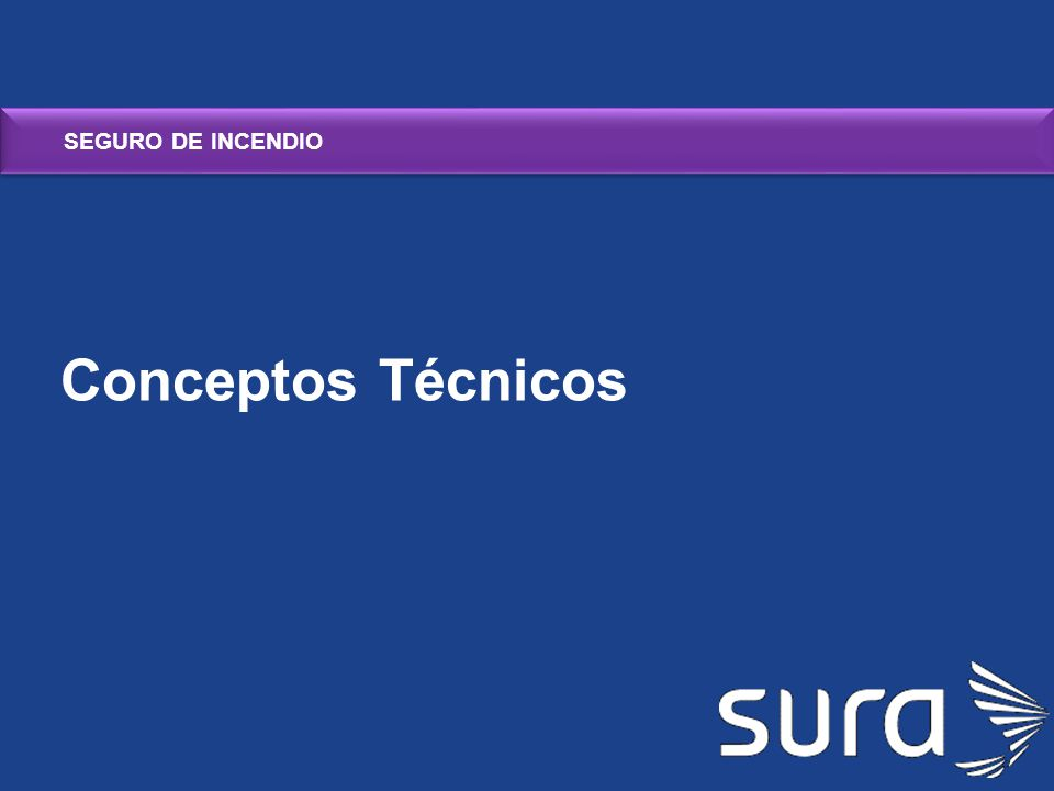 SEGURO DE INCENDIO Conceptos Técnicos