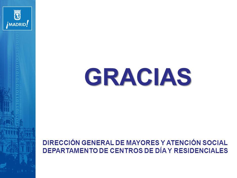 GRACIAS DIRECCIÓN GENERAL DE MAYORES Y ATENCIÓN SOCIAL
