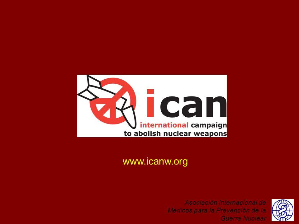 ICAN - la Campaña Internacional para Abolir las Armas Nucleares - es una campaña de la sociedad civil, lanzada por IPPNW en 2007, que reúne a ONG, organizaciones profesionales, grupos de base, diplomáticos, líderes religiosos, académicos, grupos de jóvenes - todos los que participan para lograr un mundo más seguro, próspero y pacífico. El objetivo de ICAN es un tratado global que prohíba y elimine las armas nucleares y que elimine esta amenaza existencial para la humanidad, para nosotros y las futuras generaciones.