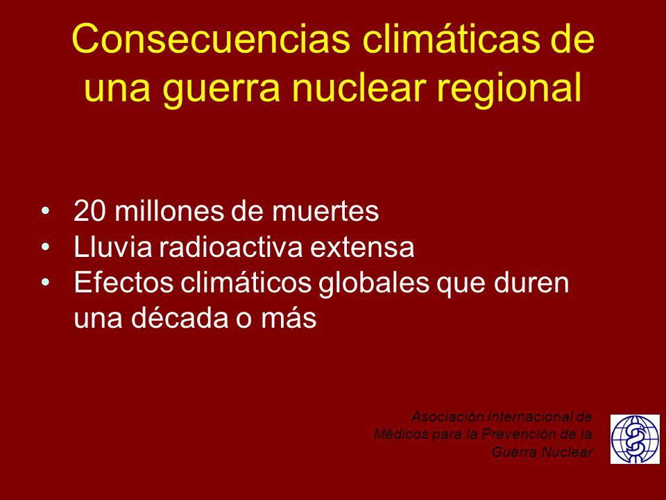 Consecuencias climáticas de una guerra nuclear regional