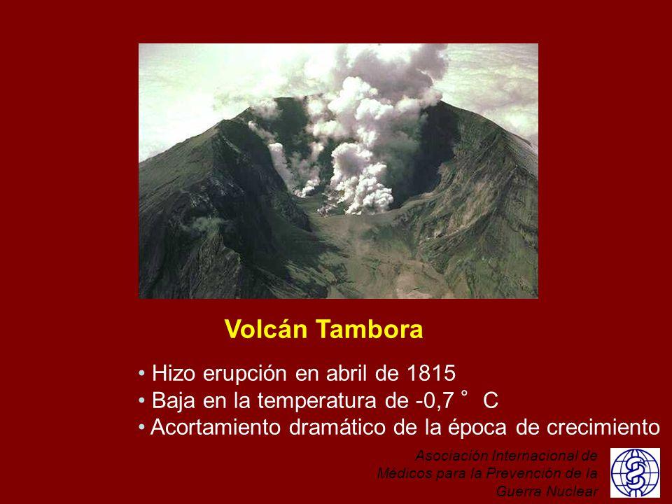 Volcán Tambora Hizo erupción en abril de 1815