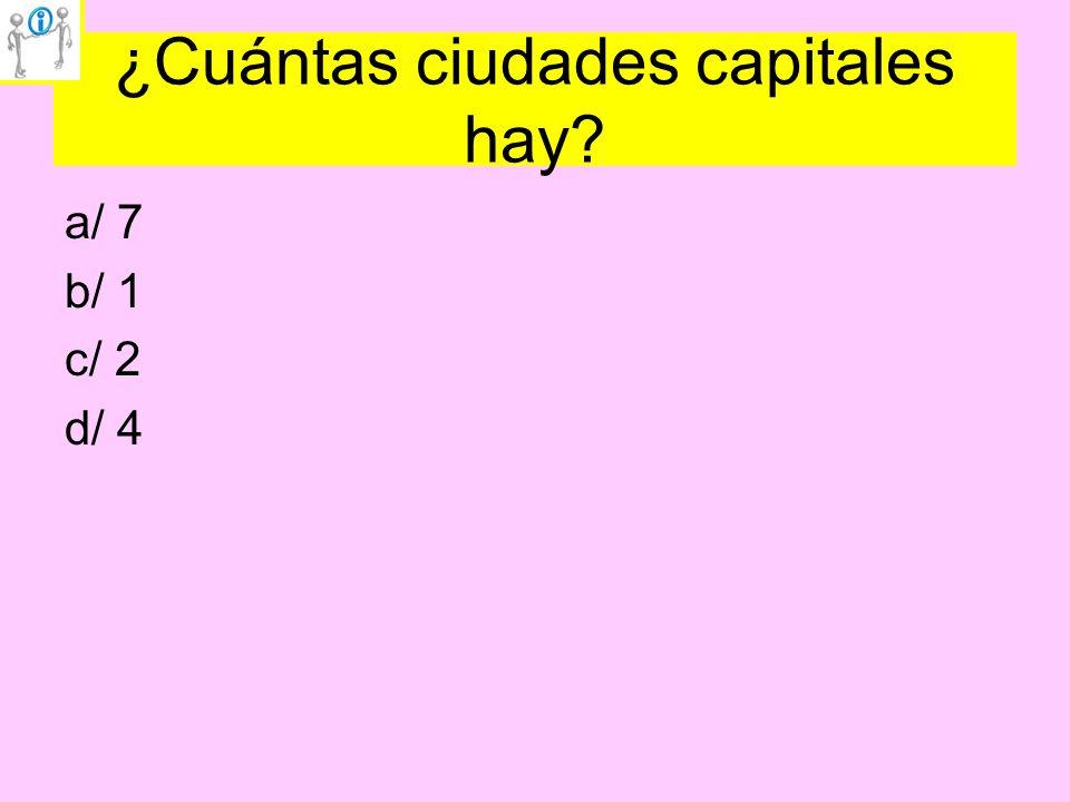 ¿Cuántas ciudades capitales hay