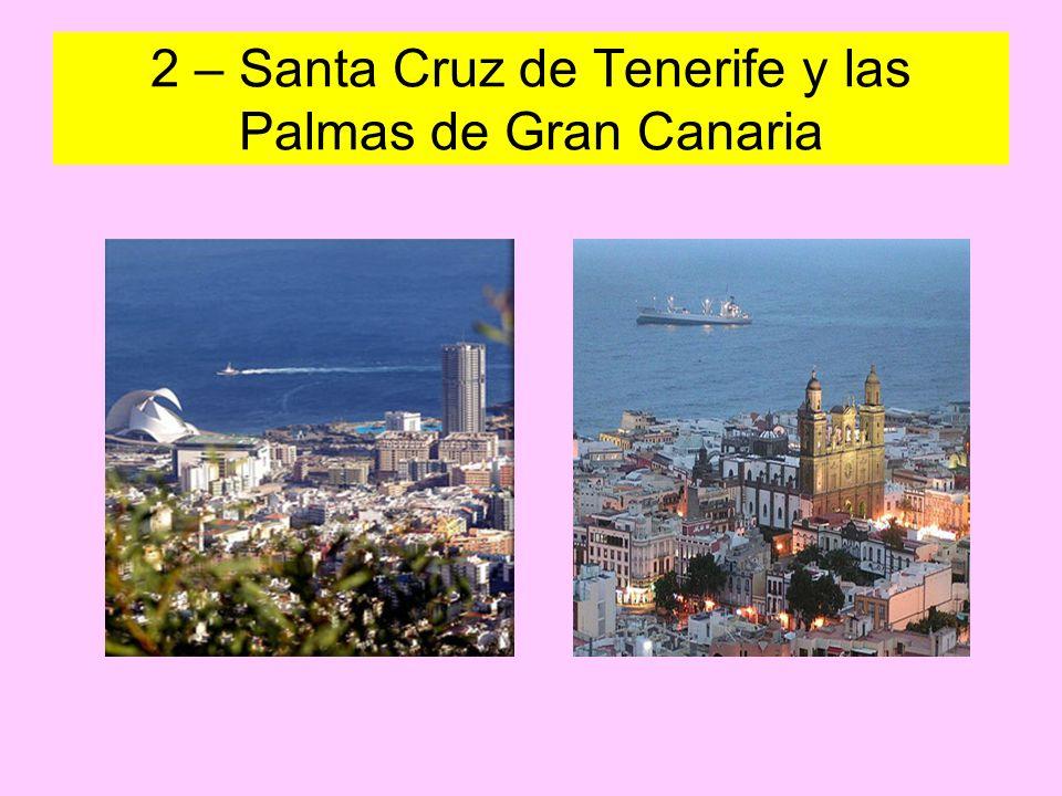 2 – Santa Cruz de Tenerife y las Palmas de Gran Canaria