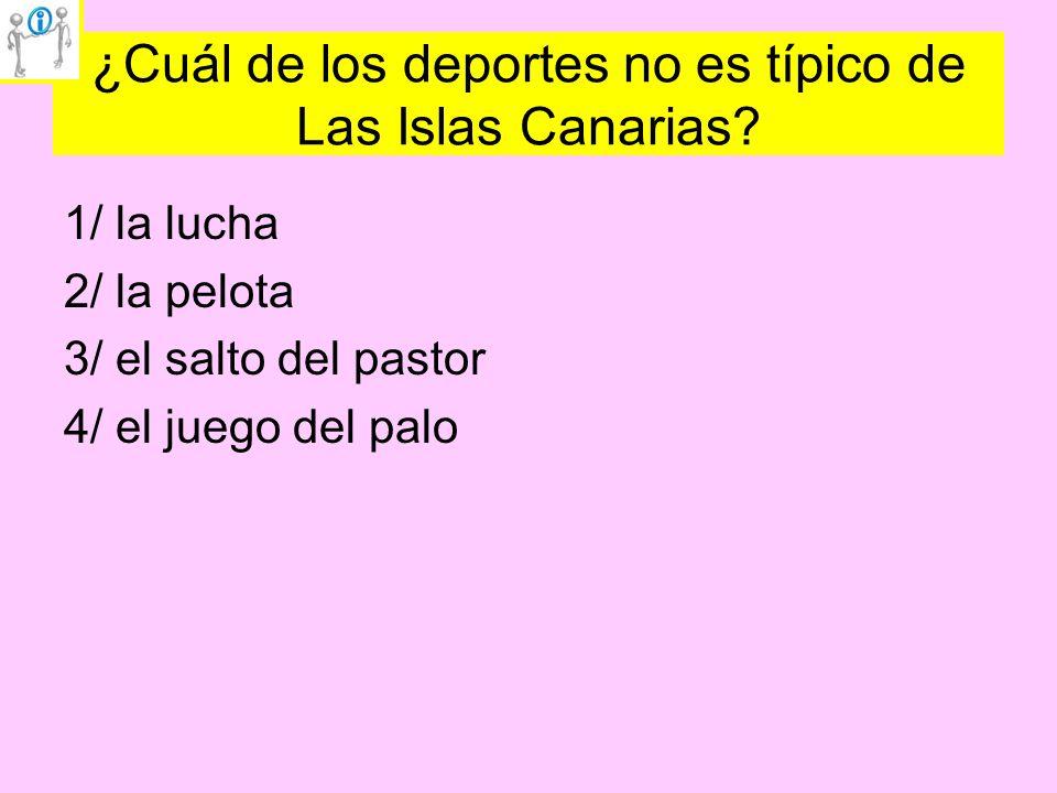 ¿Cuál de los deportes no es típico de Las Islas Canarias