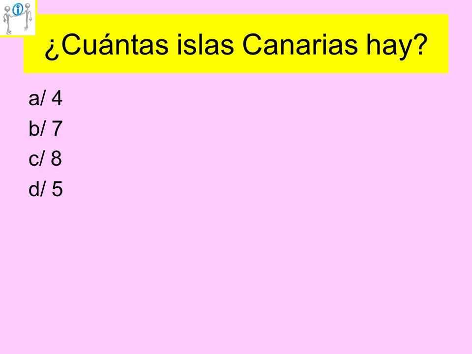 ¿Cuántas islas Canarias hay