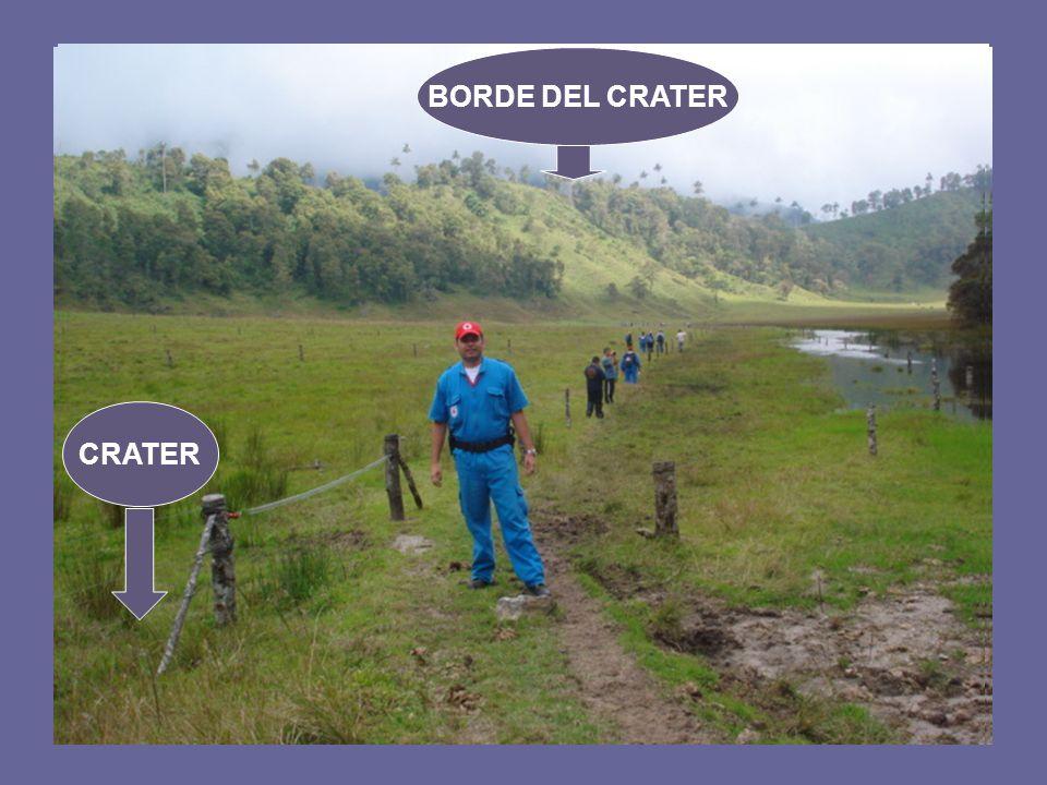 BORDE DEL CRATER CRATER