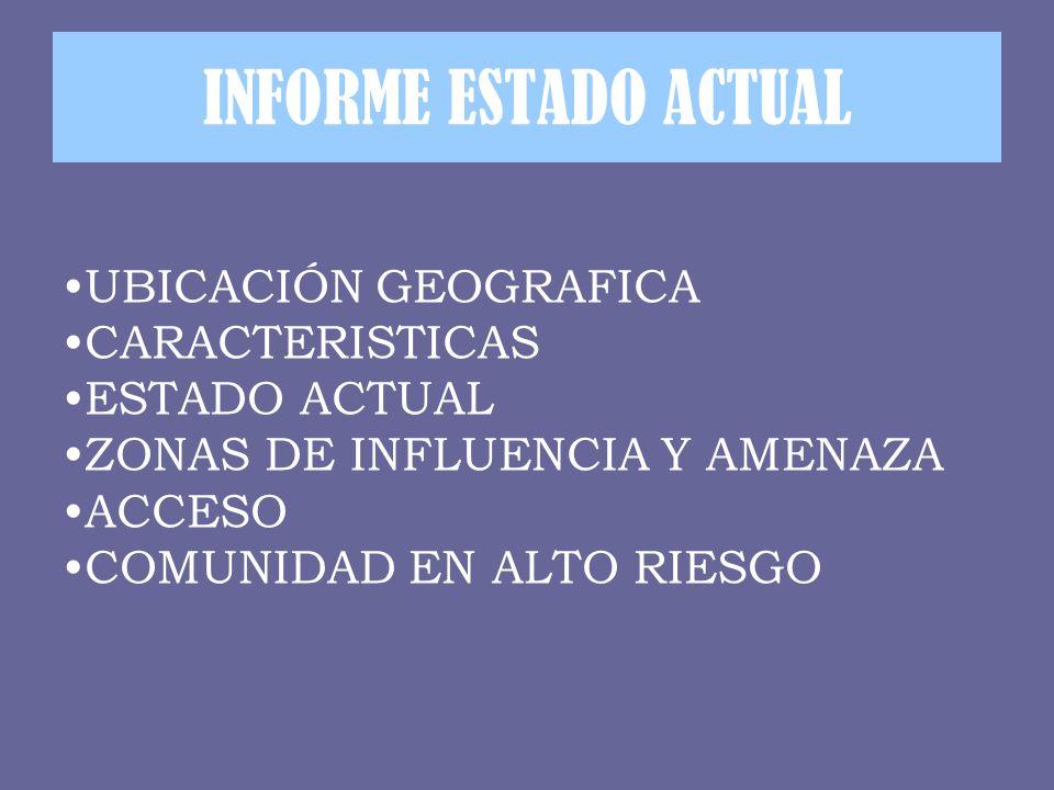 INFORME ESTADO ACTUAL UBICACIÓN GEOGRAFICA CARACTERISTICAS