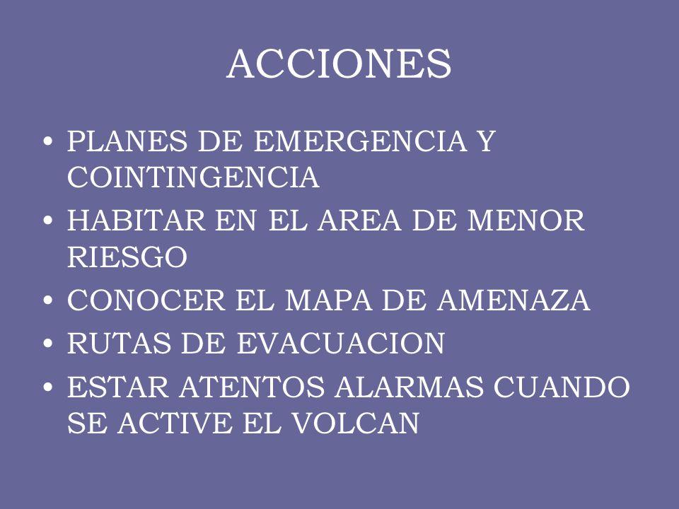 ACCIONES PLANES DE EMERGENCIA Y COINTINGENCIA