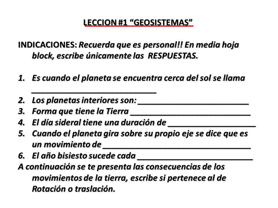 LECCION #1 GEOSISTEMAS