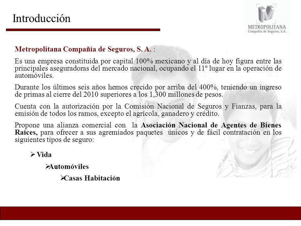Introducción Metropolitana Compañía de Seguros, S. A. :