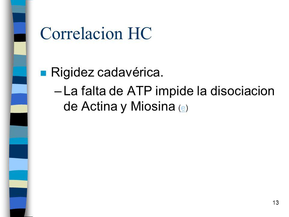 Correlacion HC Rigidez cadavérica.